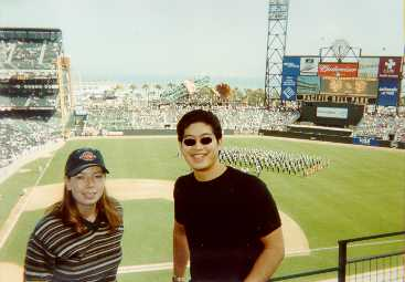October 4, 2000 - Eric Yeung and Kristen Loomis at NL division playoffs - giants/mets game 1