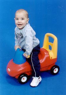 Matthew Barneto at 12 months old